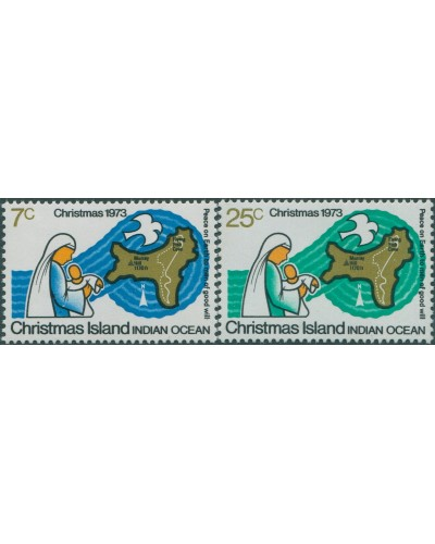 Christmas Island 1973 SG57-58 Christmas set MLH