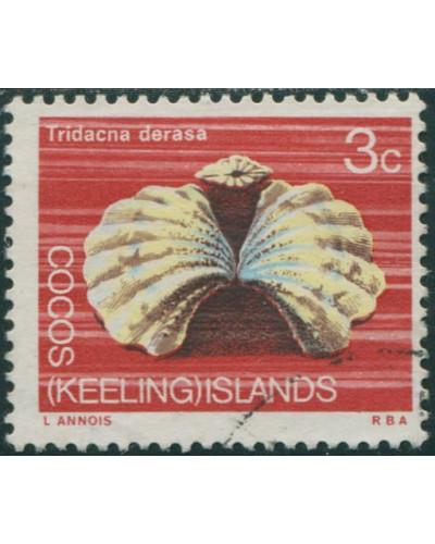 Cocos Islands 1969 SG10 3c Reef Clam FU