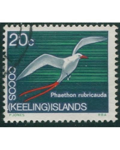 Cocos Islands 1969 SG16 20c Red-tailed Tropic Bird FU