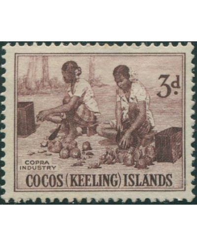 Cocos Islands 1963 SG1 3d Copra Industry MNH