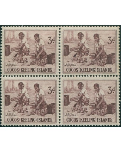 Cocos Islands 1963 SG1 3d Copra Industry block MNH