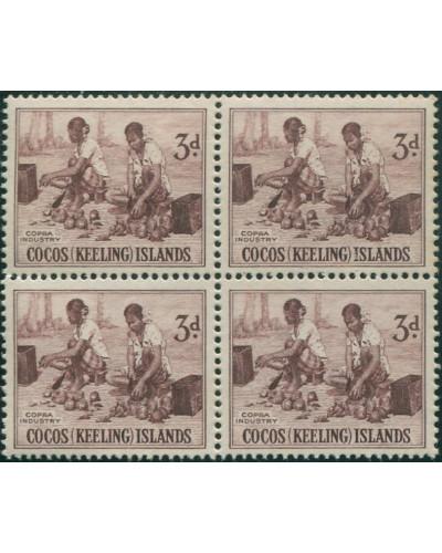 Cocos Islands 1963 SG1 3d Copra Industry block MNH