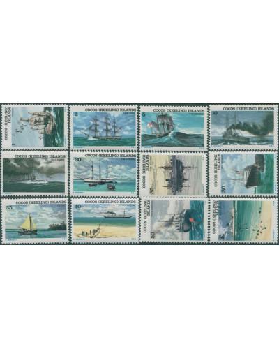 Cocos Islands 1976 SG20-31 Ships set MNH