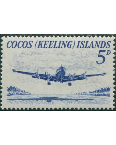 Cocos Islands 1963 SG2 5d Lockheed airliner MNH