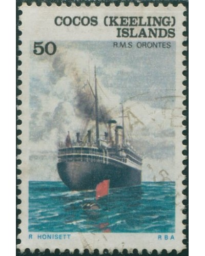 Cocos Islands 1976 SG30 50c RMS Orentes FU