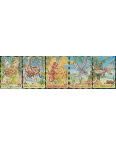 Cocos Islands 1994 SG326 Insects part set FU