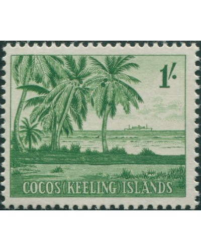 Cocos Islands 1963 SG4 1/- Palms MLH