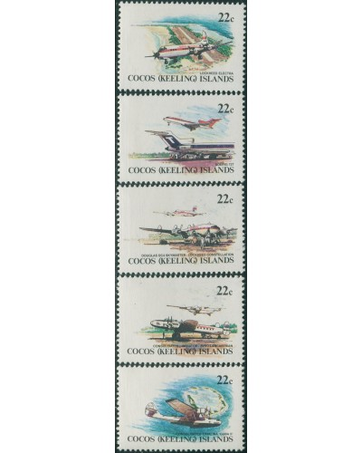 Cocos Islands 1981 SG65a Aircraft strip MNH