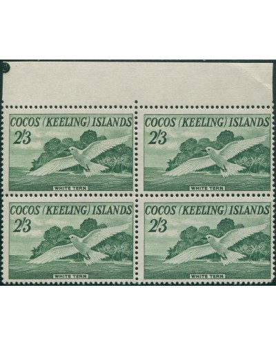 Cocos Islands 1963 SG6 2/3d White Tern block MNH