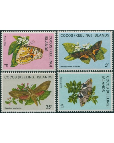 Cocos Islands 1982 SG84 Butterflies part set MNH