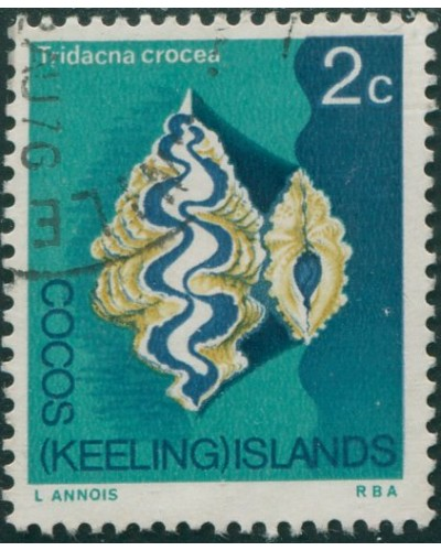 Cocos Islands 1969 SG9 2c Small Giant Clam FU