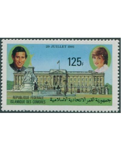 Comoro Islands 1981 SG452 125f Royal Wedding MNH