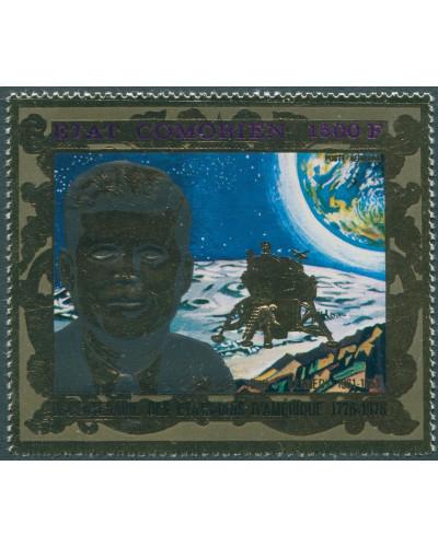 Comoros 1976 1500f John F Kennedy gold foil MNH