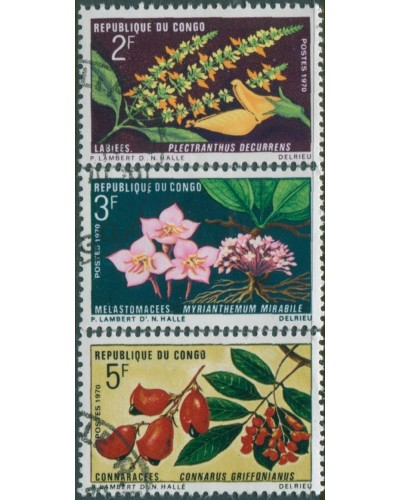 Congo 1970 SG233-236 Flowers set FU