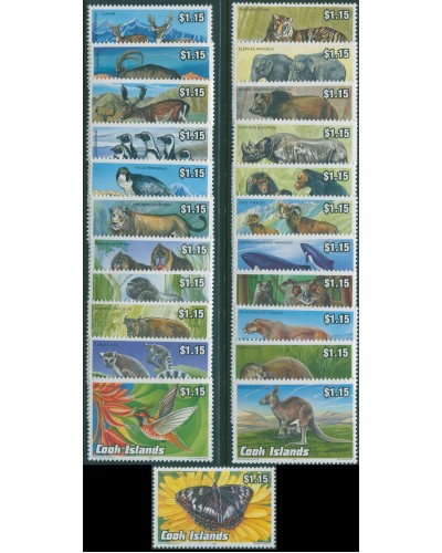 Cook Islands 1992 SG1279-1301 Endangered Wildlife set MNH