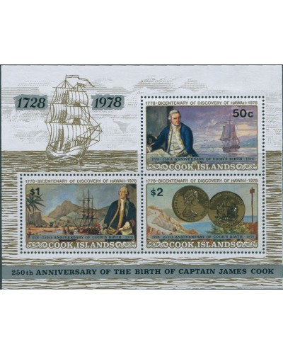Cook Islands 1978 SG616 Captain Cook Birth MS MLH