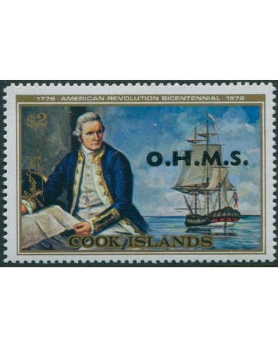 Cook Islands OHMS 1978 SGO29 $2 Cook Endeavour MNH