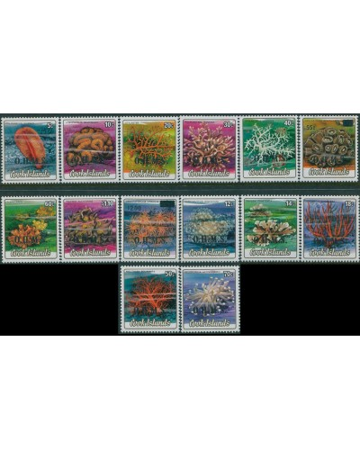 Cook Islands OHMS 1985  SGO32-O45 Corals set MNH