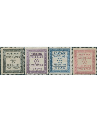 Cook Islands 1892 SG1-4 Federation White paper set MH
