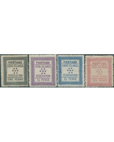 Cook Islands 1892 SG1-4 Federation set MH