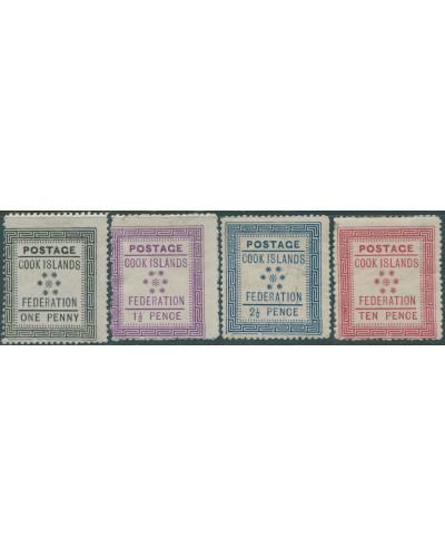 Cook Islands 1892 SG1-4 White paper set MNH
