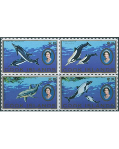 Cook Islands 2007 SG1530-1533 Whales and Dolphins block MNH
