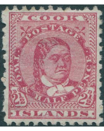 Cook Islands 1896 SG16a 2½d deep rose Queen Makea Takau p11 MH