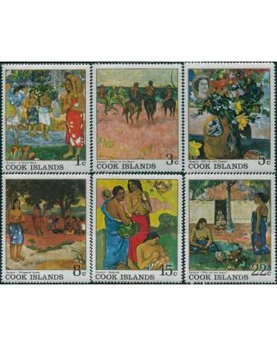 Cook Islands 1967 SG249-254 Gauguin Paintings set MLH