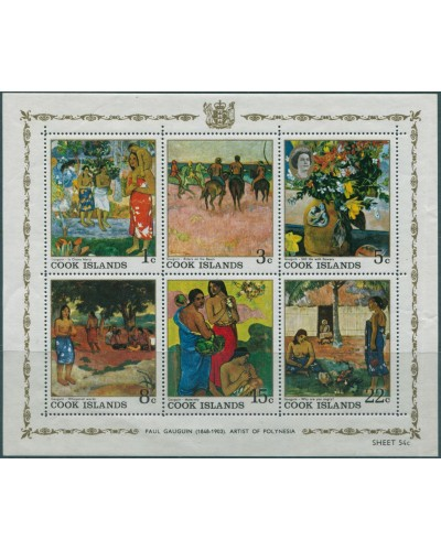 Cook Islands 1967 SG255 Gauguin Paintings MS MNH