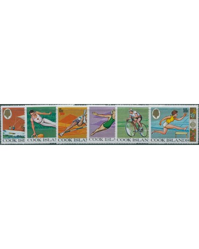 Cook Islands 1968 SG277-282 Olympic Games set MLH