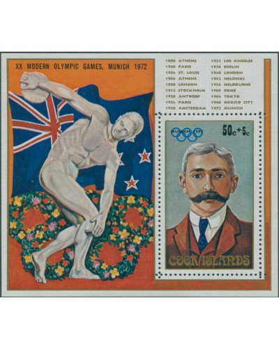 Cook Islands 1972 SG404 Olympic Games MS MLH