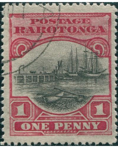 Cook Islands 1920 SG71 1d Wharf at Avarua FU