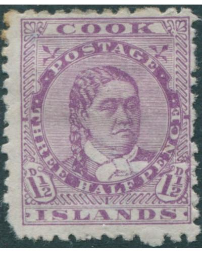 Cook Islands 1893 SG7 1½d mauve Queen Makea Takau MH