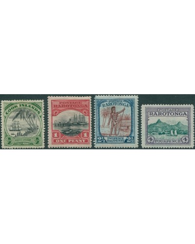 Cook Islands 1924 SG81-84 Landing Wharf Chief Harbour MH