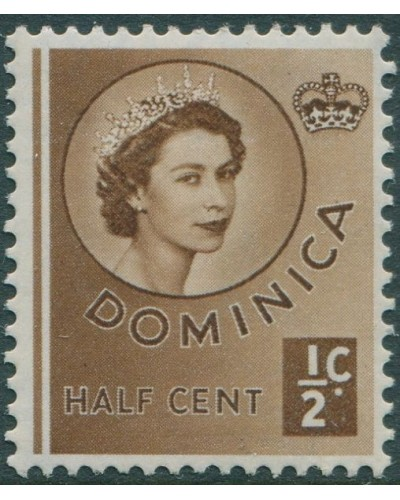 Dominica 1954 SG140 ½c brown QEII MNH