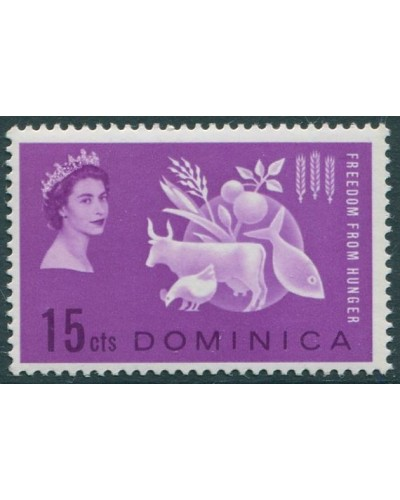 Dominica 1963 SG179 15c violet Freedom from Hunger MNH