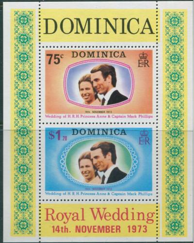 Dominica 1973 SG396 Princess Anne Wedding MS MNH