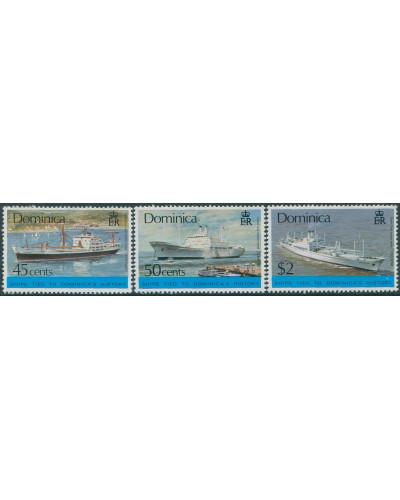 Dominica 1975 SG471-473 Ships (3) MNH