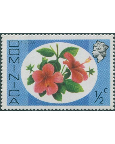 Dominica 1975 SG490 ½c Hibiscus MNH
