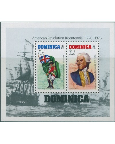 Dominica 1976 SG514 American Revolution MS MNH