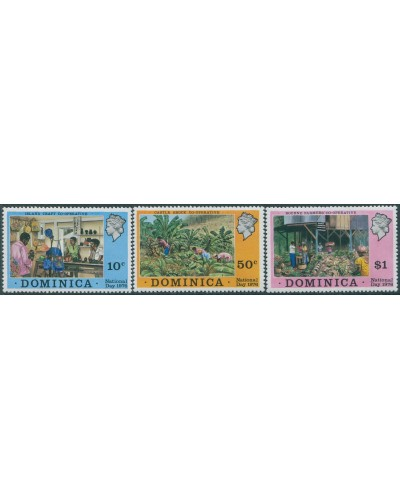 Dominica 1976 SG550-552 National Day set MNH