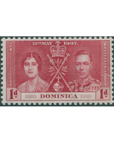 Dominica 1937 SG96 1d red Coronation MLH