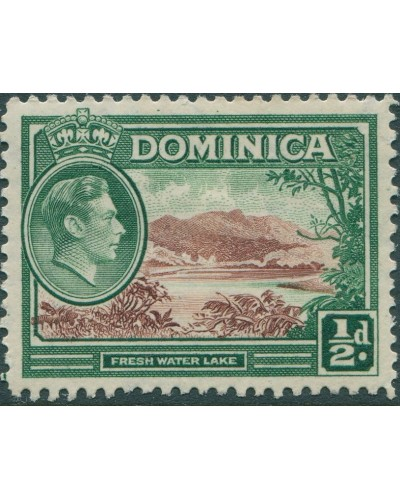 Dominica 1938 SG99 ½d brown and green Lake KGVI MLH