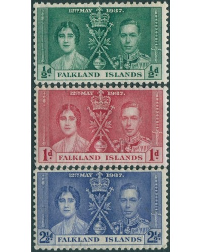 Falkland Islands 1937 SG143-145 Coronation set MH