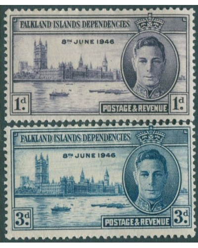 Falkland Islands 1946 SG164-165 Victory set MLH
