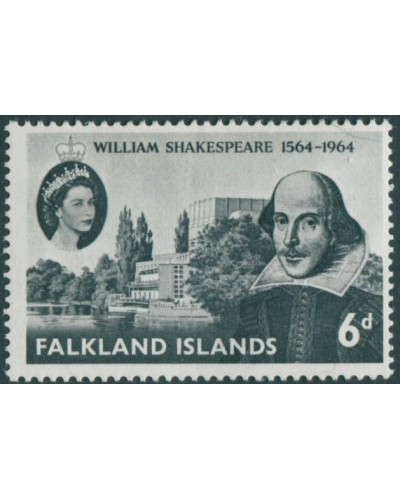 Falkland Islands 1964 SG214 6d Shakespeare MLH