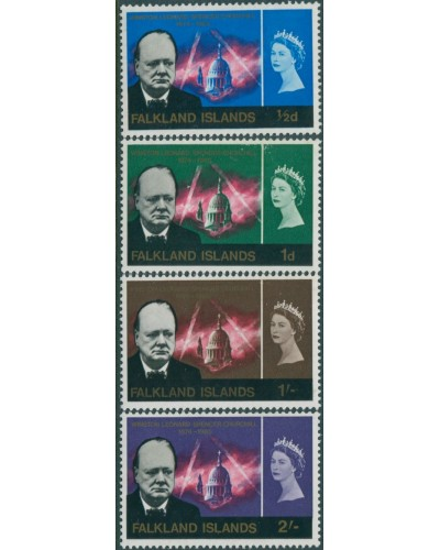 Falkland Islands 1966 SG223-226 Churchill set MLH