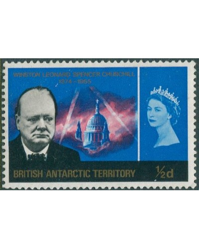 Falkland Islands 1966 SG223 ½d blue Churchill QEII MNH
