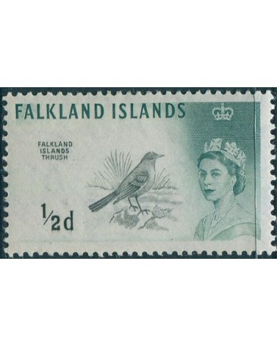 Falkland Islands 1960 SG193 ½d green Thrush QEII wmk upright MH