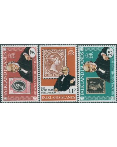 Falkland Islands 1979 SG364-366 Sir Rowland Hill set MNH